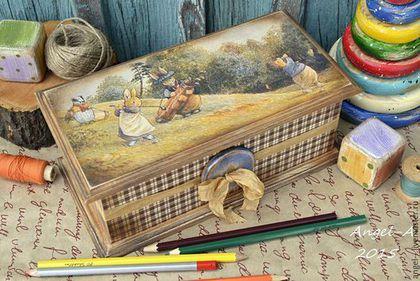 """Детская ручной работы. Ярмарка Мастеров - ручная работа. Купить Короб """"Игра в гольф"""". Handmade. Короб для хранения, foxwood tales"""