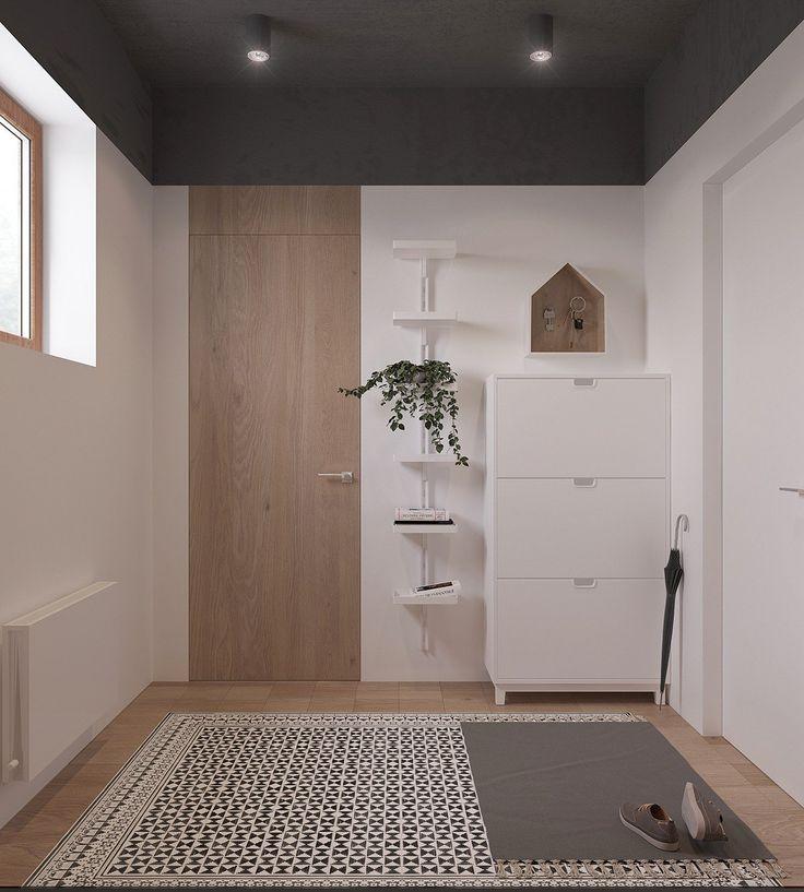 Originale entrata appartamento scandinavo design elegante