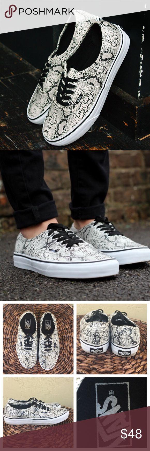 VANS SNAKESKIN Snake Print Vans. Great Condition! Vans Shoes Sneakers