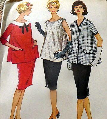 LOVELY VTG 1960s MATERNITY DRESS Sewing Pattern 14/34  $6.99