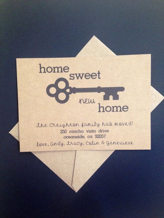 PRINTABLE Home Sweet New Home Change of Address by SimpleandPosh
