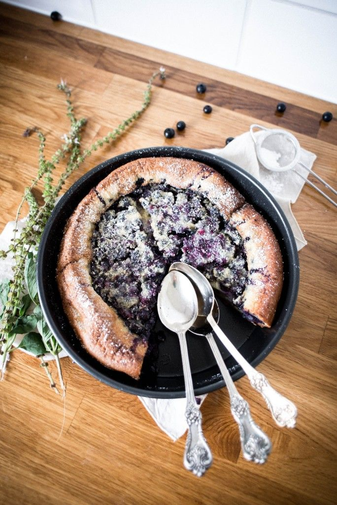 Blueberry and Lavender Sugared Clafoutis
