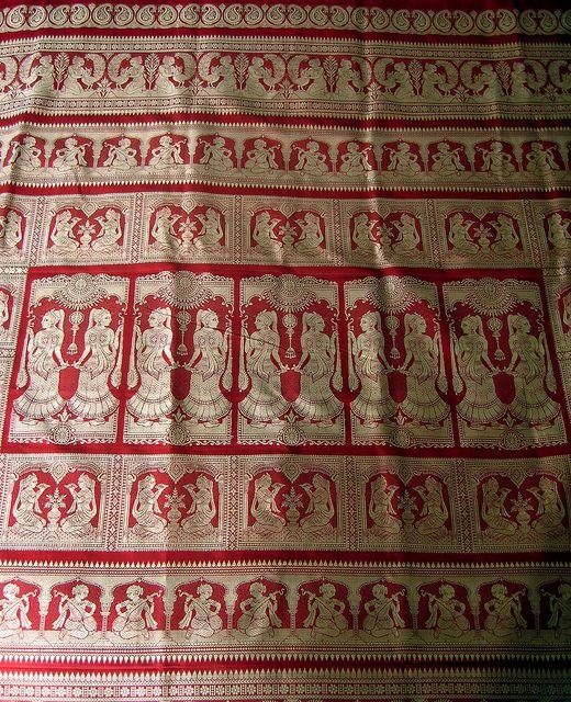 Baluchari Saree weave detail