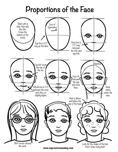 Proportions of the Face Drawing Reference Guide | Drawing References and Resources | Scoop.it