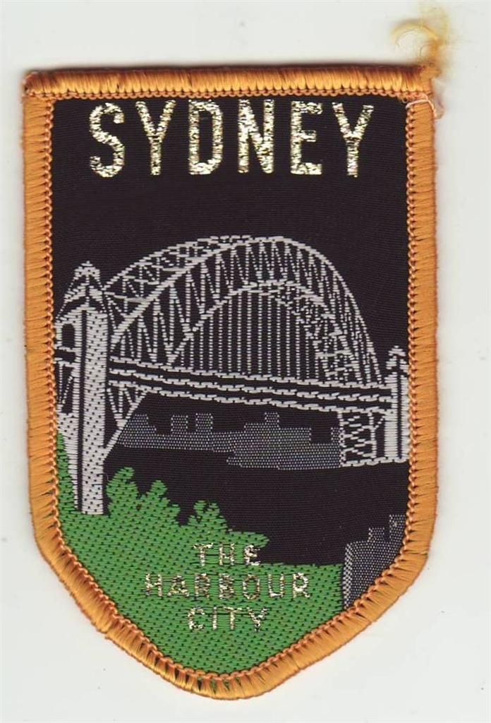 Cloth Patch - Badge - Sydney, The Harbour City, NSW, Australia. Most people think of the Sydney Harbour Bridge (or the Opera House) when they think of Sydney.
