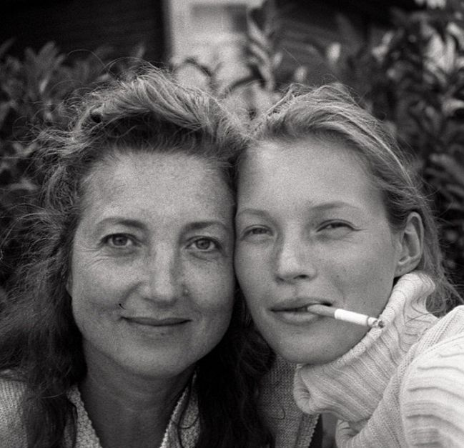 kate, with her mother, Linda by Glen Luchford, 1995