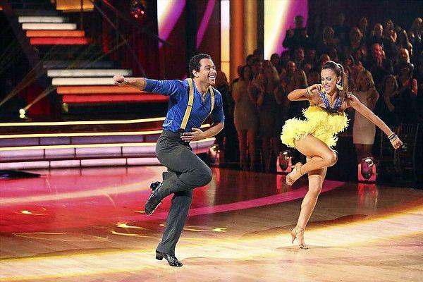 "Karina Smirnoff & Corbin Bleu  Cha-Cha to Nononon's ""Pumpin' Blood""  -  of Team Spooky Bom Bom --   Dancing With the Stars  -  week 7  -  season 17  -  fall 2013  -    Scores: 10+9+10 = 29"