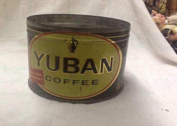 Vintage Yuban Coffee Tin by 3birdz on Etsy