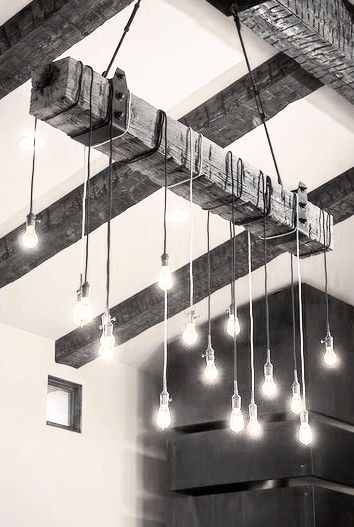 Gorgeous statement lighting.