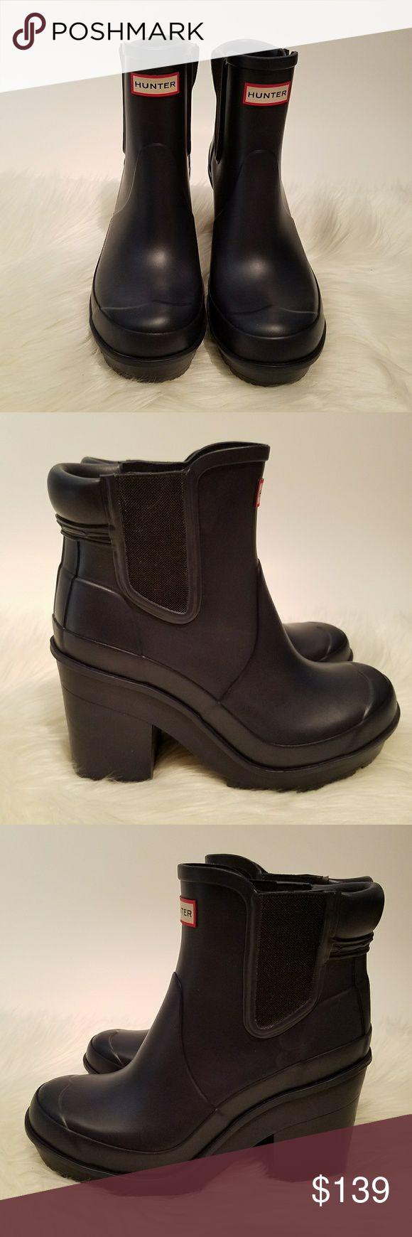 Selling this NWOB Hunter Original Block Heel Chelsea Boot on Poshmark! My username is: cedar_closet. #shopmycloset #poshmark #fashion #shopping #style #forsale #Hunter #Shoes