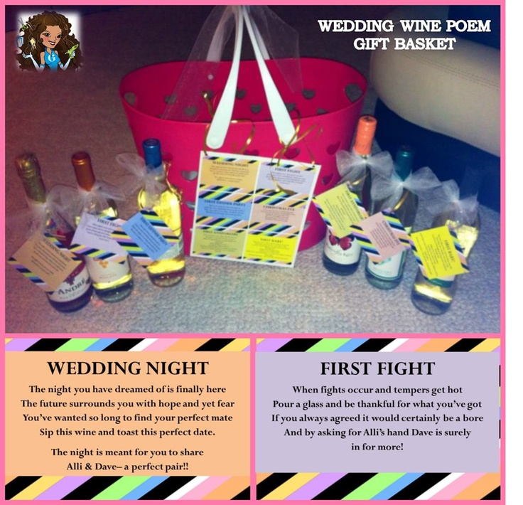 Gift Basket For Bride And Groom Wedding Night: 17 Best Images About Diy Wedding Wine Basket Ideas On