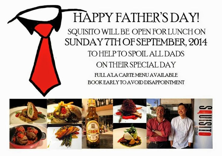 Squisito father's day call 9888 6662 for more info