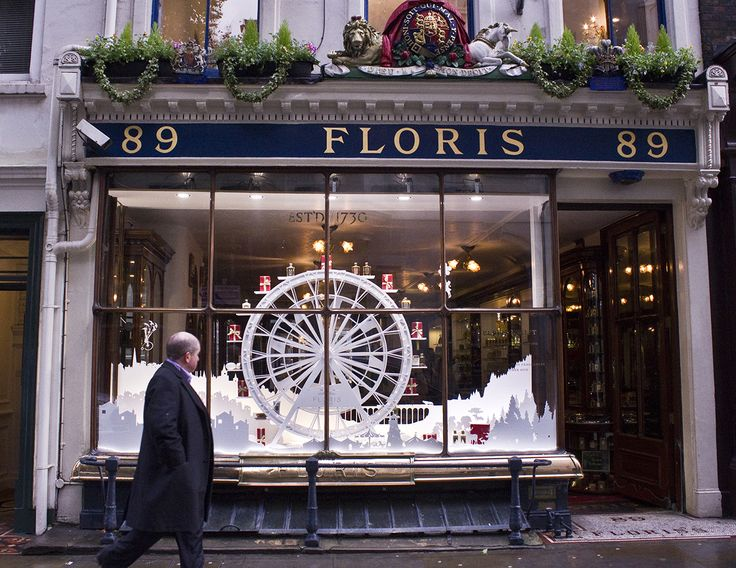 Floris - Window Display - Jermyn Street Christmas 2014