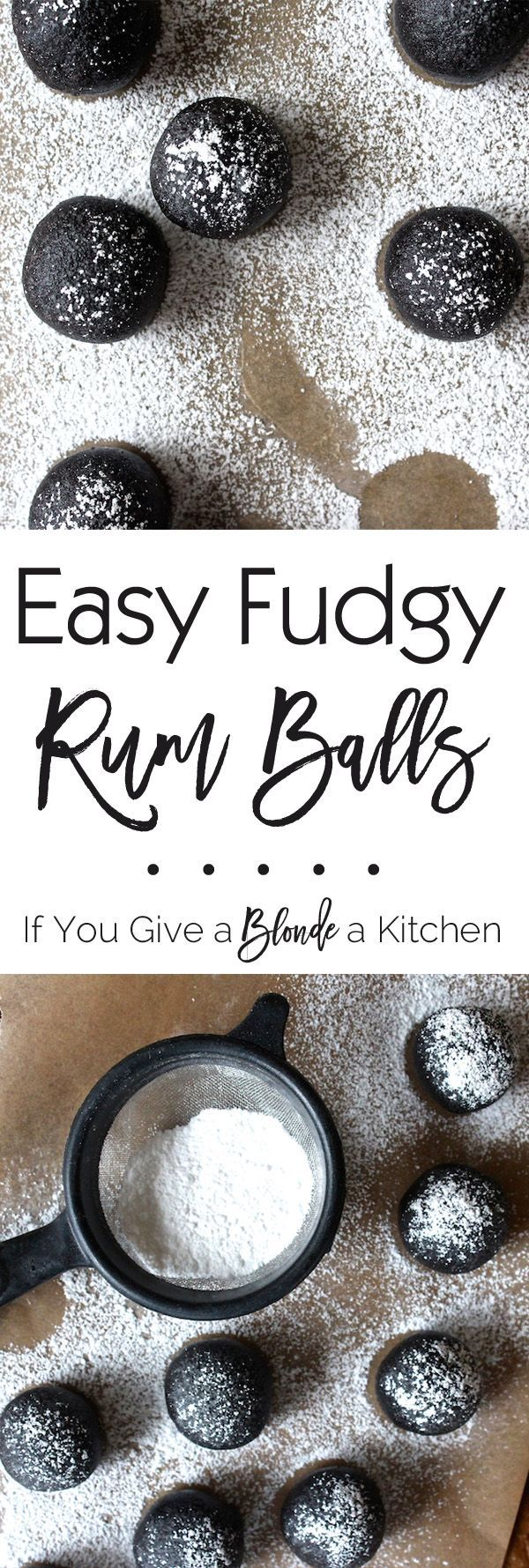 The easy to make no bake rum balls are the best! Boozy, fudgy and oh-so delicious for Christmas! | Recipe on /haleydwilliams/