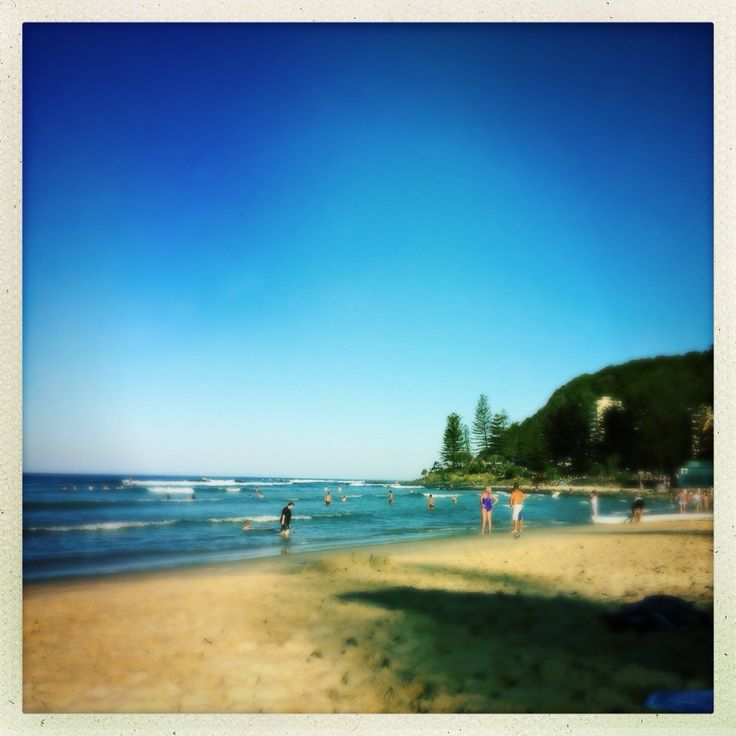Spring afternoon at Burleigh beach