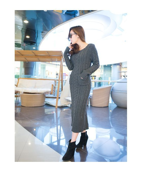 Picture color Polyester Scoop neckline Dress