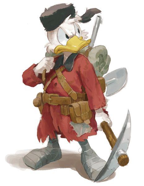 ちょっと前に描いた若ルージ氏を発掘  Young Scrooge Mcduck fanart from Don Rosa's comic The Life and Times of Scrooge McDuck.