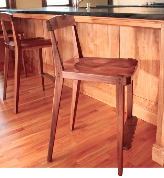 Building a Tall Walnut Wood Kitchen Chair - Free Woodworking Plan. Rockler.com/how-to