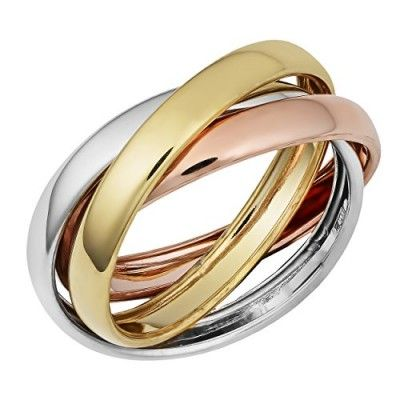 Rings, Fremada, 14k Tricolor Gold High Polish Rolling Ring