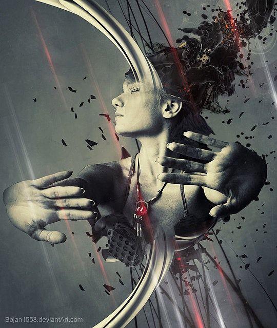 Hot Digital Art by Bojan Jevtic, looks like the shattering of the self....