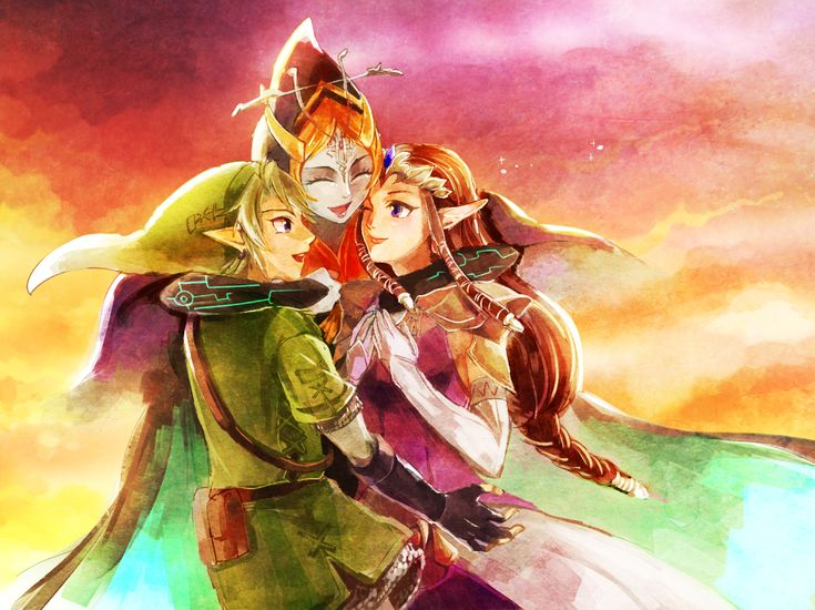 The Legend of Zelda: Twilight Princess / Link, Princess Zelda, and Midna / 「また会えた」/「蜂丸」のイラスト [pixiv]