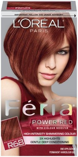 L'Oreal Feria Hair Color, Power Red Ruby Rush