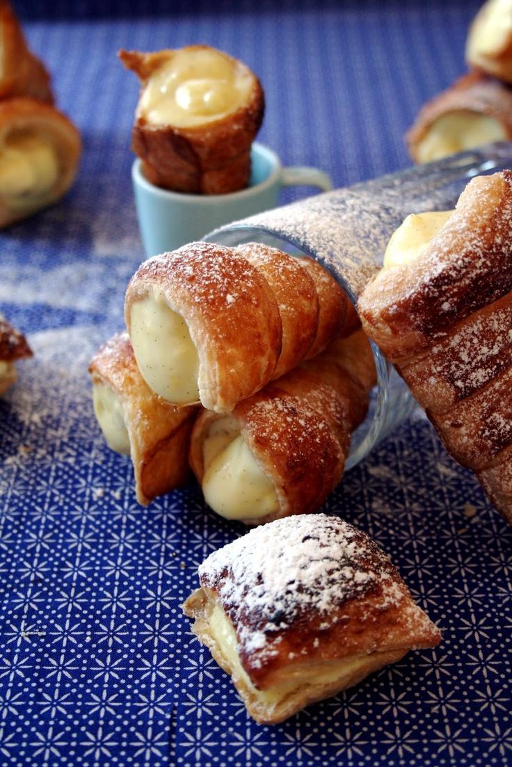 Amapola, el mundo en un plato: Caracolas rellenas de crema pastelera
