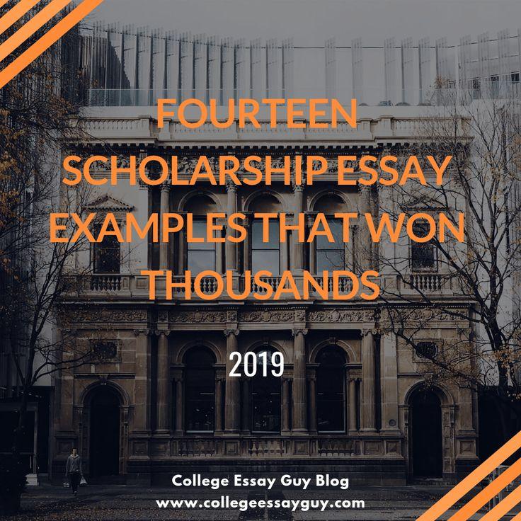 Fourteen scholarship essay examples that won thousands