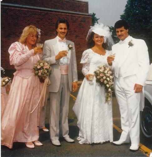 80's wedding