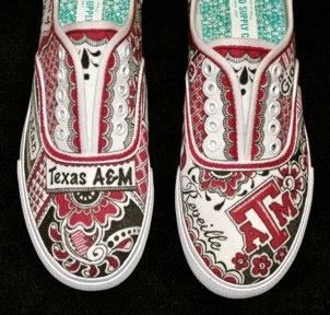 Texas A & M, Custom Tennis Shoes