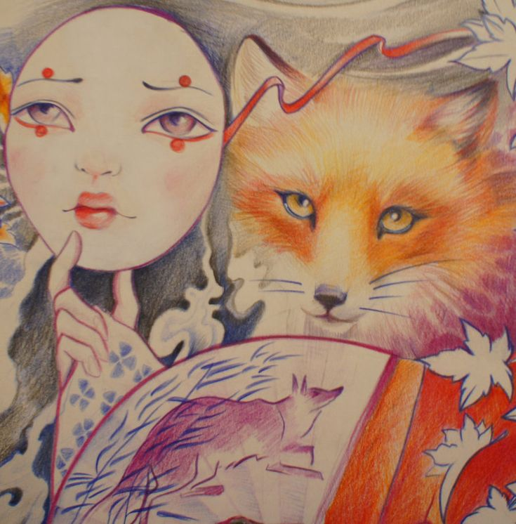 Kitsune by selfishkoi.deviantart.com on @DeviantArt