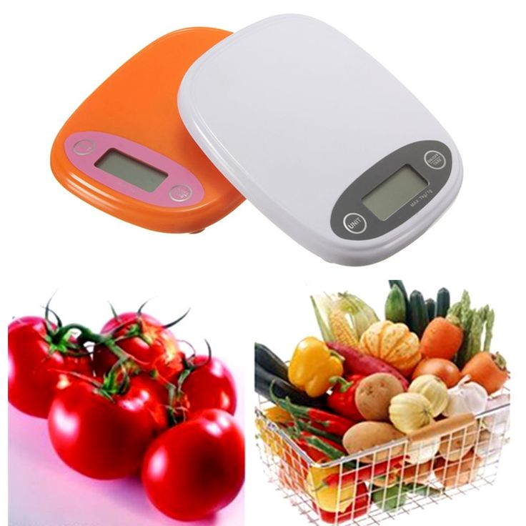 New Household Portable Electronic 7kg/1g Digital LCD Kitchen Food Diet Postal Scale Weight Balance Gram Backlight Orange