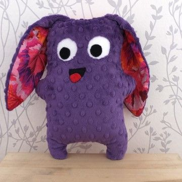 Happy Ojky toy in purple colour - hand made!