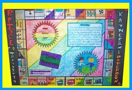 Game Board Book Report Project: templates, printable worksheets, and grading rubric