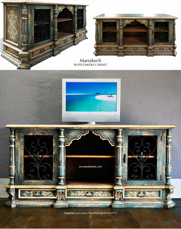 Dining Room Buffet Or Bedroom Media Cabinet The Dark Turquoise Marrakech Will Be