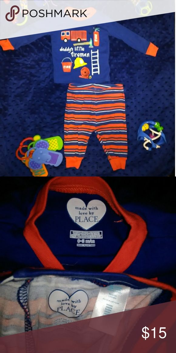 Baby boy fireman outfit A Children's Place infant two piece.  Like new condition. Children's Place Matching Sets