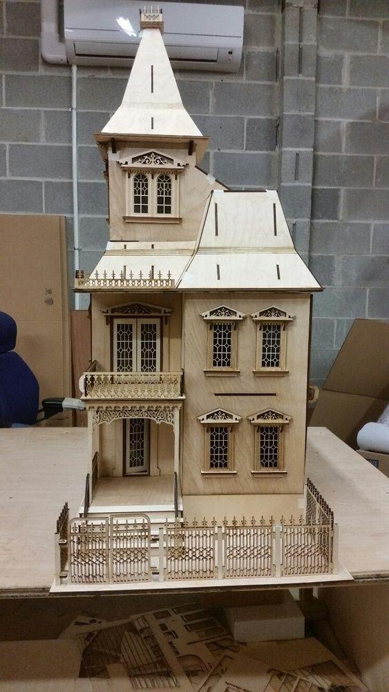51 best laser dollhouse designs images on pinterest for Plan victorian dollhouse