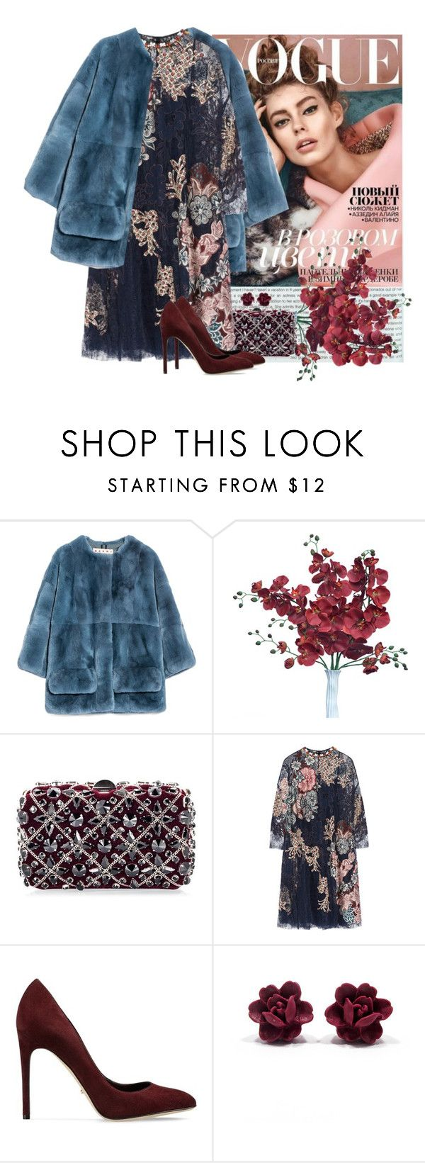 """""""FAB DRESS.."""" by sasoula ❤ liked on Polyvore featuring Marni, Rodo, Biyan, Sergio Rossi, women's clothing, women, female, woman, misses and juniors"""