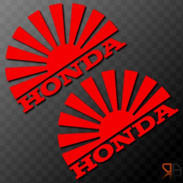 Details About 2x Honda Rising Sun Arc Vinyl Decal