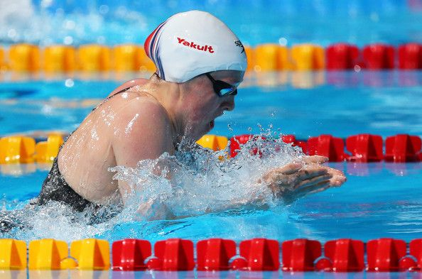 Hannah Miley of Great Britain competes during the Swimming Women's 400m Individual Medley preliminaries heat four on day sixteen of the 15th FINA World Championships at Palau Sant Jordi  on August 4, 2013 in Barcelona, Spain.