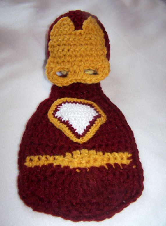 Costume-Baby Boy Photo Prop-Superhero Cape Set--Baby Hat-Crochet Hat-Newborn Crochet-0 to 3 months-3 to 6 months-Made to Order