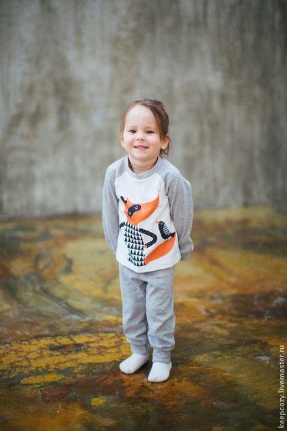 Одежда для девочек, ручной работы. Пижама детская с иллюстрацией. Lena Belova. Интернет-магазин Ярмарка Мастеров. Рисунок, белый цвет