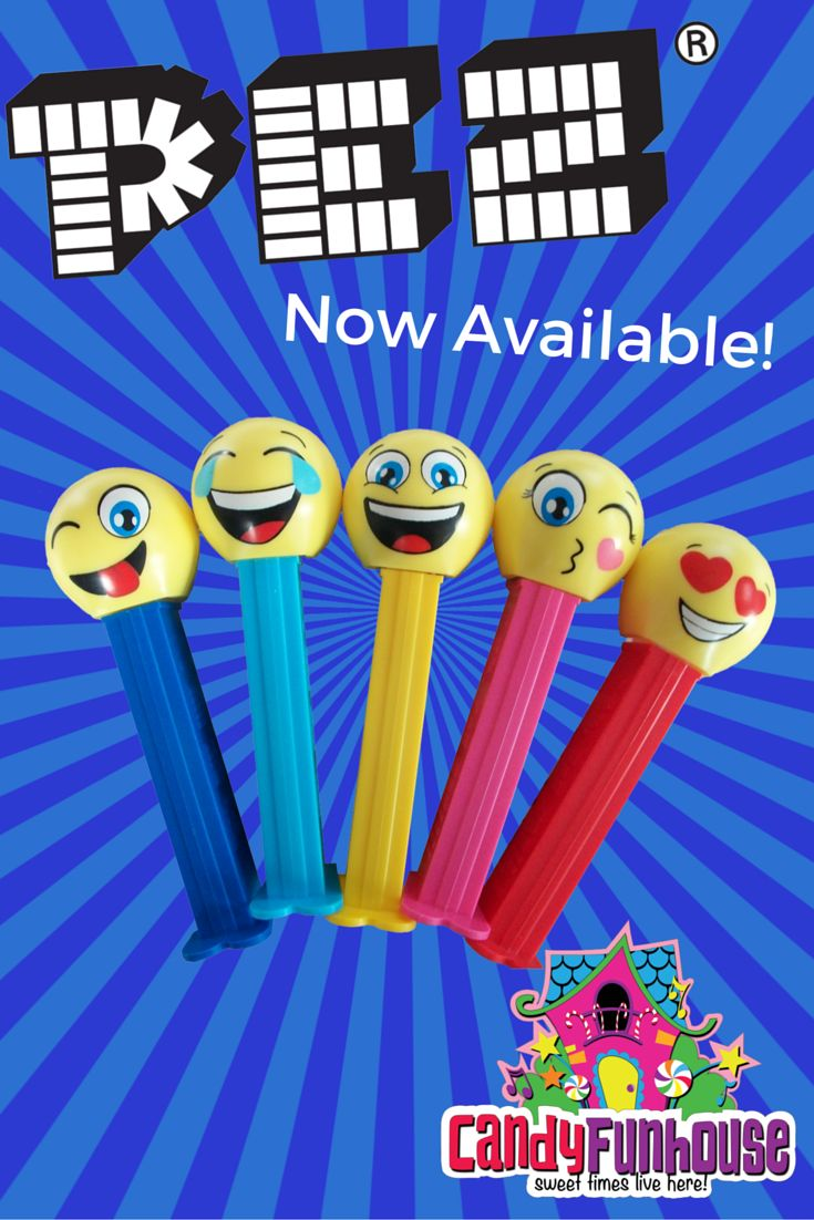 Feast your eyes on these new Emoji Pez dispensers!  Look familiar? Pez originally released a line of Emoticon dispensers in Australia, and now they've released 5 all new faces! These fun faces include the Happy Face, LOL'ing Face, Heart Eyes, Silly Face, and Kissing Face Emojis!  Check out all of our Emoji Pez candies in our online store!  http://candyfunhouse.ca/products/emoji-pez-happy-face