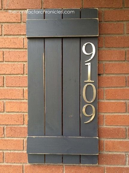 Diy house number tiles