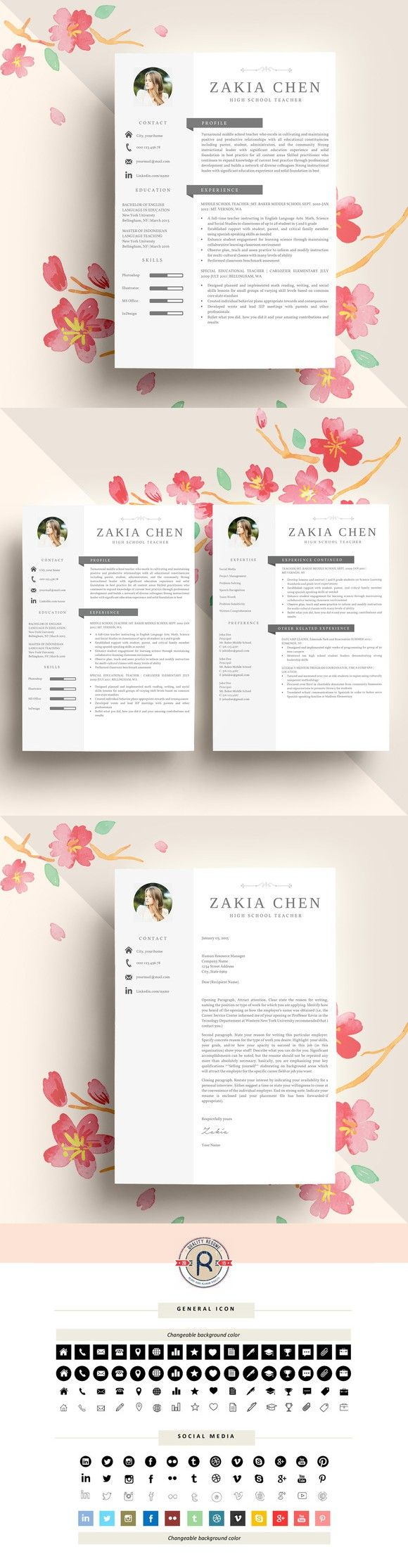 236 best images about resume design layout on pinterest