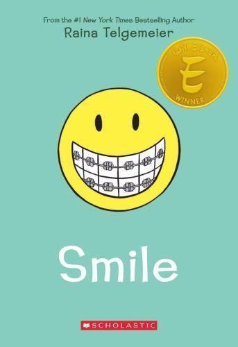 Smile by Raina Telgemeier (2010, Paperback) Will Eisner Winner Comic 97805451320 #scholastic
