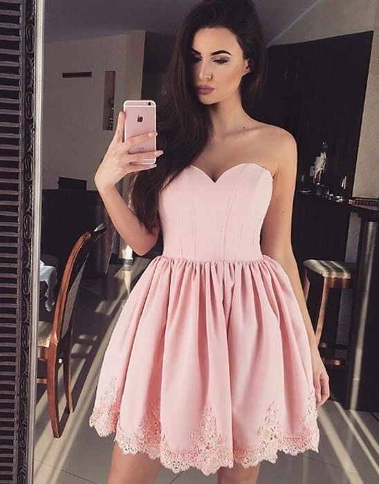 Blush Homecoming Dresses,Sweetheart Homecoming Dresses,Strapless Homecoming Dresses,Cute Homecoming Dresses,Dirty Pink Homecoming Dresses,Cheap Homecoming Dresses,Fashion Dress,Short Homecoming Dresses,Casual Party Dress