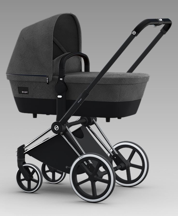 Cybex Priam Carrycot Manhattan Grey Trekking Wheels Stroller