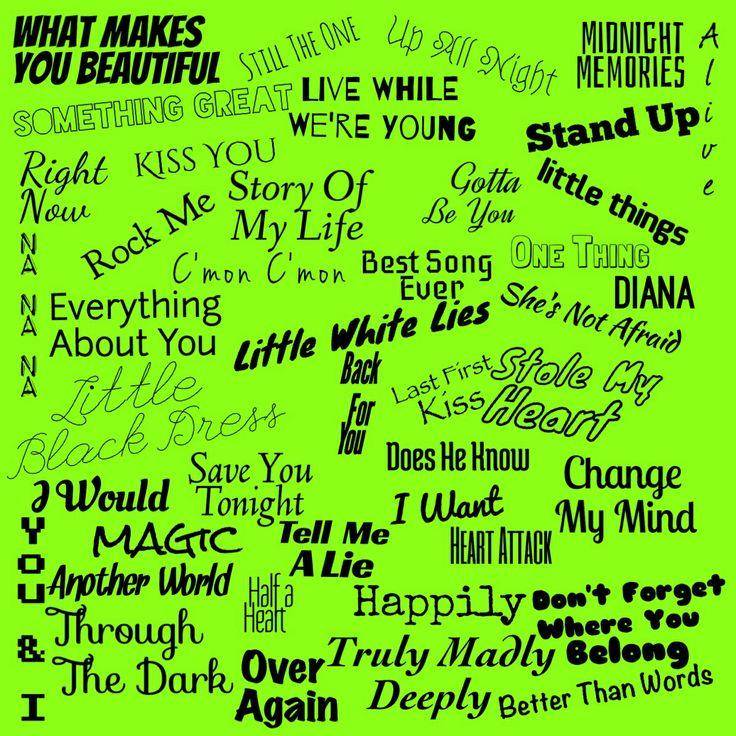 Somos Escenario One Direction Song Lyrics Wallpaper One