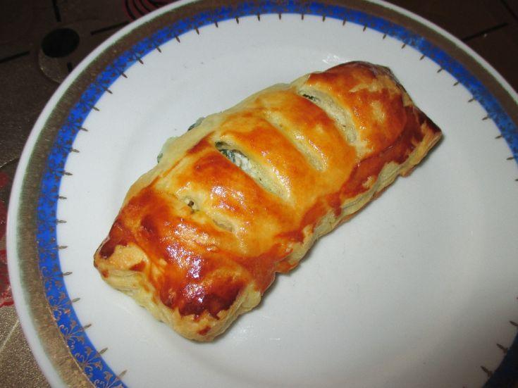 Špenátovo-syrové koláčiky z lístkového cesta